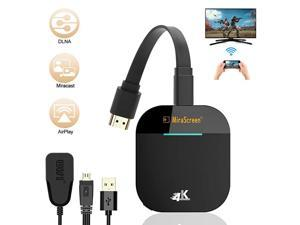 WiFi Display Dongle,  4K Wireless HDMI Display Adapter, 5G WiFi Wireless Display Receiver, iPhone iPad Laptop Android Phones Miracast Dongle for TV, Projector, Monitor, HDMI Devices