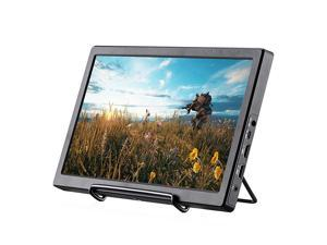 116 Inch 1920X1080 FHD IPS Portable Gaming Monitor with Double HDMI USB5v Powered for Raspberry Pi PS3P34XBOX ONE S Home Security System Builtin Speaker