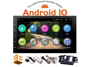 7 Inch Android 100 Car Stereo with GPS Navigation Double Din Car Radio Bluetooth Stereo Radio Receiver 2Din Headunit with Backup Camera Support WiFi Mirror Link for AndroidiOS Phone USB Input