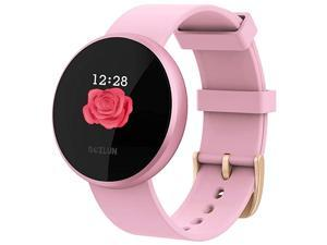 Womens Smart Watch Waterproof Smartwatch Activity Fitness Tracker and Heart Rate Monitor Message Call Reminder Tracker Step Counter Compatible with Android Phones and iPhones