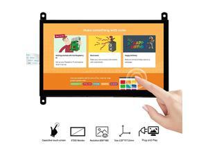 7 Inch DSI Touch Screen LCD Display 800x480 for Raspberry Pi 4 3 3B+ 2 | Portable Capacitive Touchscreen Monitor with DSI Cable | Easy to DIY Create IOT Circuits and Learn Coding for Beginners
