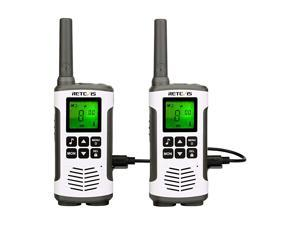 RT45 Walkie Talkie Adult RechargeableLong Range Two Way RadioFlashlight Baby Monitor AA 22CH VOXfor Family Outdoor Hiking Camping2 Pack