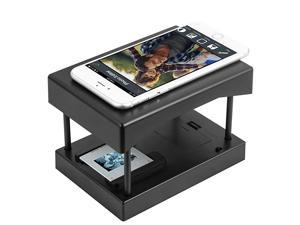Mobile Film and Slide Scanner Converts 35mm Slides Negatives into Digital Photos with Your Smartphone Camera Interesting Presents and Toys with LED Backlight2AA Batteries not Included