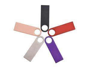 USB Flash Drive 5 Pack Thumb Drives Mini Metal Memory Stick Bulk Portable Mixed Colors Data Storage Stick Festival Family Friend Gift