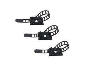 Pieces Cord Management Cable Ties Adhesive Cable Organizer Cable Clips Ties with Optional Screw Mount Cord Fasteners Clamps