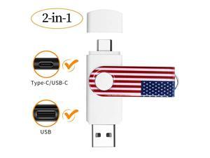 2 in 1 256GB 3031 Type CUSB C Flash Drive for Android PhonesTabletsLaptopDesktopPhoto Stick for Mobile Phones with Type C InterfaceComes with a Micro Adapter