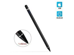 Pencil Compatible for AppleActive Pen for Touch Screens 15mm Metal Fine Point High Sensitivity Digital Pen Compatible with iPadAndroid Tablet and Other Touch Screen Black