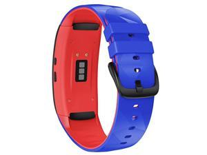 Compatible with Samsunsung Gear Fit2 Pro Bands Replacement Silicone Band for Samsung Gear Fit2 Gear Fit 2 Pro Smartwatch Royal BlueRed Large