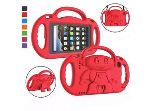 Kids Case for Kindle Fire 7 2019 2017 Light Weight Shockproof Handle Friendly Kids Case with Builtin Kickstand Shoulder Strap for AllNew Fire 7 9th 7th Generation Tablet 7 Display Red
