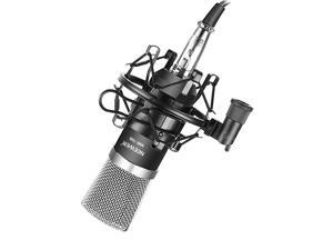 NW700 Professional Studio Broadcasting Recording Condenser Microphone 1NW700 Condenser Microphone 1Metal Microphone Shock Mount 1Balltype Antiwind Foam Cap 1Microphone Audio Cable