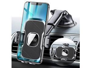 UltraDurable Cell Phone Holder for Car Universal Car Phone Mount Dashboard Windshield Vent Compatible with iPhone 12 11 Pro Max XS X XR 8 SE Samsung Galaxy S20+Ultra S10 Note 10 Plus All