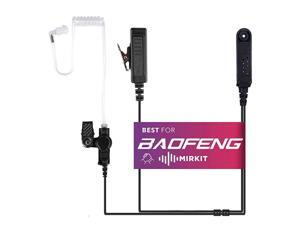 Headset Covert Acoustic Tube Radio Earpiece with Mic for Two Way Radios with Reinforced Cable Compatible with Baofeng UV9R Plus BF9700 A58 UVXR UV5S GT 3WP