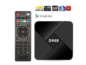 Android TV Box,  Android 9.0 TV Box Quad-core 2GB RAM 16GB ROM 4K 3D H.265 WiFi 100M LAN HDMI Set Top Box