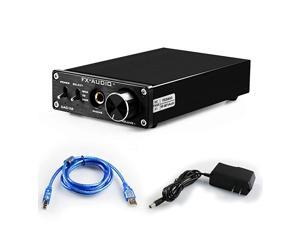 DAC ConverterHeadphone Amplifier192kHz RCA 65mm Headphone Output HiFi Stereo Home Audio Digital to Analog Converter with Volume Control DC12V Power Supply X6Black