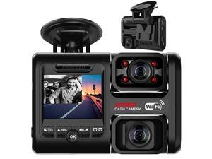 D30H Dash Cam with Infrared Night Vision and WiFi Dual 1080P Front and Inside Dash Camera for Cars Truck Taxi