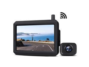Wireless Backup Camera Kit with Digital Signal Waterproof Rear View Camera with 5 TFTLCD Monitor Ideal for Sedans Pickup Truck SUV Minivans  K7