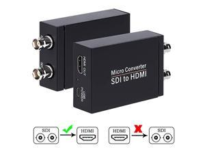 to HDMI Converter, to HDMI Audio De-embedder Support 3G-, HD-, SD-Auto Format Detection and Stereo Audio De-embedder, Loopout (Black)