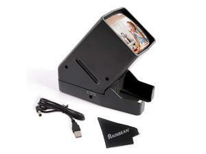 Powered 35mm Negative Slide Film Viewer Old Slides Scanner Portable LED Lighted Negative Viewing 3X Magnification Handheld Projector Suit for 2 × 2 Slides