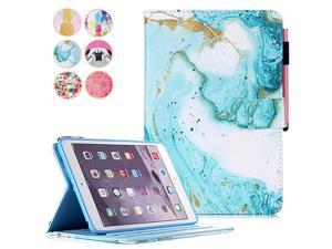 iPad 97 Inch 2018 2017 Case iPad Air Case Air 2 Cover  Smart Kickstand PU Leather Protective Case with Pen Holder Card Slot for 2017 2018 iPad 97 Inch iPad Air 1 2 Green Marble