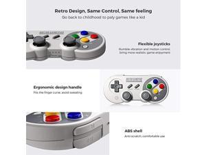 SF30 Pro Wireless Bluetooth Controller with Joysticks USB-C Cable Gamepad for Mac PC Android Nintendo Switch Windows macOS Steam