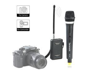 WM4CA Professional Portable Wireless VHF Handheld Microphone System for DSLR CameraVideo Camcorder Compatible with CanonNikonSonyPanasonicBlackMagicZoomTascamRoland
