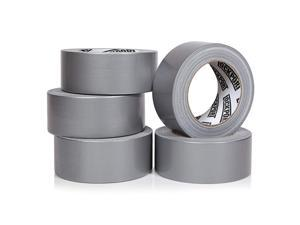 Duty Silver Duct Tape 5 Roll Multi Pack 30 Yards x 2 Inch Strong Flexible No Residue AllWeather and Tear by Hand Bulk Value for DoItYourself Repairs Industrial Professional Use