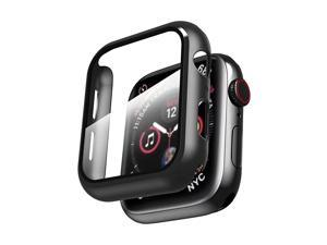 Case Compatible with Apple watch Series 6 SESeries 54 40mm with Built in Screen Protector All Around Hard PC Case with Tempered Glass Screen Protector Overall Protective Cover