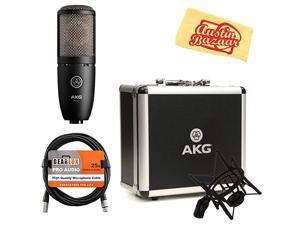 P220 HighPerformance Vocal Condenser Microphone Bundle with XLR Cable and Austin Bazaar Polishing Cloth