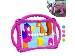 Kids Case for iPad Mini 5 4 3 2 1Silicone Childproof for All Kinds of iPad Mini Builtin Handle Stand Comes with a Strap Purple