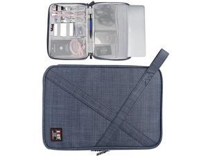 Laptop Sleeve Compatible for Surface Pro 43Surface Go12 MacBook116 MacBook Air iPad Prowith Multiple Organizer Pockets for Electronic Accessories Gray