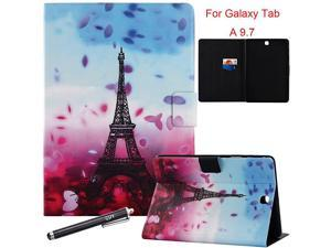 Samsung Galaxy Tab A 97 Case Smart Auto SleepWake Portfolio Case Flip Stand Cover for Samsung Galaxy Tab A 97 Inch Tablet SMT550 2015 Release PetalTower
