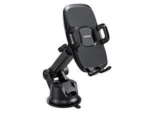 Dashboard Car Phone Mount Windshield Car Phone Holder 2 Suction Levels Washable Gel Pad Compatible iPhone 11 ProMaxXXSXR8Plus87Plus76Plus Google One Plus Moto