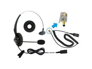RJ9 Corded Office Phone Headset for Cisco Unified IP Phone 6941 6945 6961 7940 7942 7945 7960 7962 7970 7971 7975 or Amplifier M22 M12
