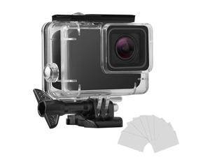 Waterproof Housing Shell for GoPro HERO7 WhiteSilver Diving Protective Housing Case 45m with Anti Fog and Bracket Accessories for Go Pro Hero 7 WhiteSilver Action Camera