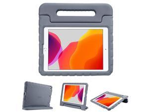 Kids Case for iPad 102 8th Gen 2020 7th Gen 2019 iPad Air 105 2019 iPad Pro 105 Shockproof Convertible Handle Stand Cover Light Weight Kids Friendly Case for iPad 8th 7th Grey