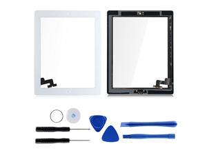 97quot Touch Screen Digitizers Assembly for iPad 2 with Home Button Replacement Adhesive Tape + Repair Tool Kit Included