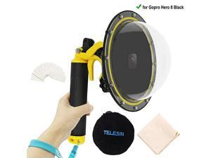 Telesin Dome Lens 6quot Dome Port for Gopro Hero 8 Black Action Cameras Snorkeling Underwater Diving Dome with Waterproof Housing Case Trigger and Soft Rubber Floating