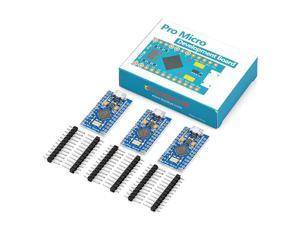 3PCS Pro Micro ATmega32U4 5V16MHz Module Board with 2 Row Pin Header for Arduino Leonardo Replace ATmega328 Arduino Pro Mini