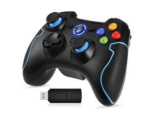 2.4G Wireless Controller for PS3, PC Gamepads with Vibration Fire Button Range up to 10m Support PC,Laptop, Android and TV Box (Blue)