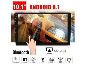 Android 81 Car GPS Double 2Din Quad Core 16GB Touch Screen in Dash Car Stereo Radio Navigation with Bluetooth GPS WiFi DAB OBD SWC Mirror Link Multimedia
