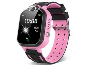 Smart Watch for Boys Girls Smartwatch Phone with Calls 7 Games Music Player Camera Alarm Clock Calculator SOS Calendar Touch Screen Childrens Smart Watch for Birthday GiftsPink