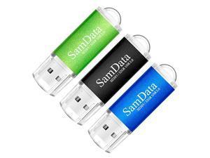 3 Pack 32GB USB Flash Drives USB 20 Thumb Drives Memory Stick Jump Drive Zip Drive 3 Colors Black Blue Green