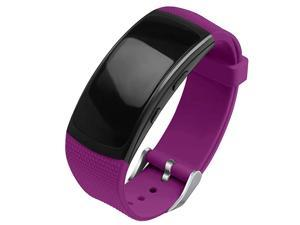 Compatible Gear Fit2 ProFit2 Band Replacement Silicone Accessories Strap Samsung Gear Fit2 Pro SMR365Gear Fit2 SMR360 Smartwatch Purple