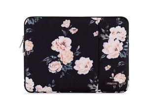 Tablet Sleeve Case Compatible with iPad Pro 11 inch (3rd Gen) M1 5G 2021-2018, 2020 10.9 iPad Air 4, 10.2 iPad 8th/7th Gen, 10.5 iPad Air 3, iPad 9.7, Polyester Camellia Vertical Bag, Black