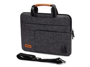101 Inch MultiFunctional Laptop Sleeve Business Briefcase Messenger Bag with USB Charging Port for 101105 Inch Laptop Tablet iPad Pro iPad Air Lenovo Yoga Book Black Zipper