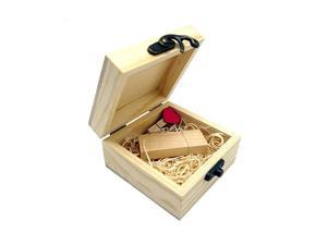 Gift Wooden USB 20 Flash Drive Memroy Stick Disk with Box 16GB 16GB Maple Wooden