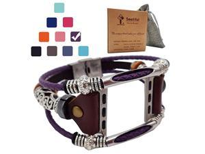 Fashion Bands with Box Pack for Girl Adjustable Accessories Watch Band for Apple Watch 38mm amp 40mmLavender Purple