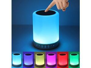 Speaker Night Lights Portable Wireless Speakers Smart Touch Discoloration LED LightOutdoor Speakers Best Gifts for GirlBoyBaby