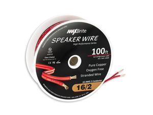 Performance 16 Gauge Speaker Wire Oxygen Free Pure Copper UL Listed Class 2 100 Feet Spool