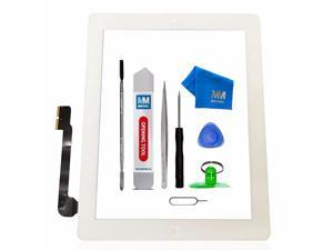 Pack of 5 Digitizer Repair Kit Compatible with iPad 3 White 97 Inch Touchscreen Front Display Incl Tool kit